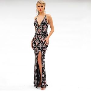 Primavera Long Beaded Dress 3073